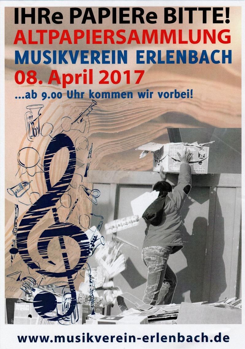 Musikverein Erlenbach Altpapiersammlung