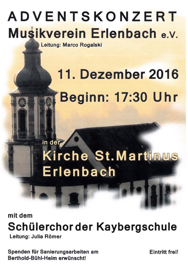 MV Erlenbach Adventskonzert 2016