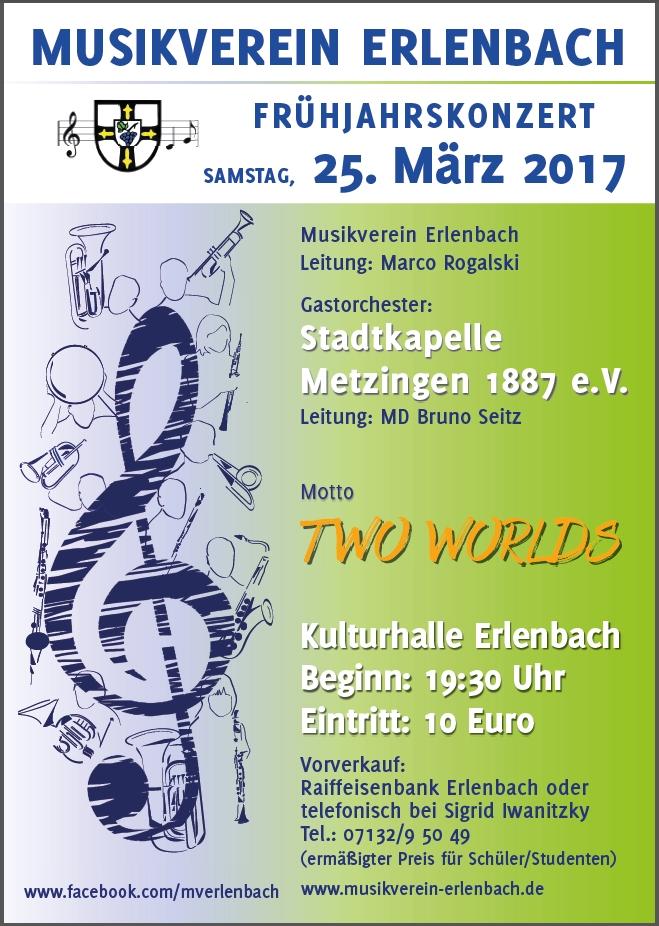 Musikverein Erlenbach Frühjahrskonzert 2017