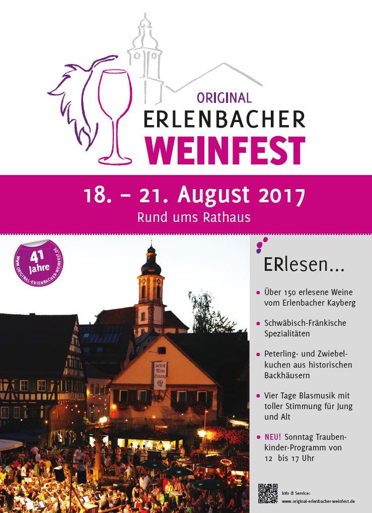 Plakat Weinfest 2017
