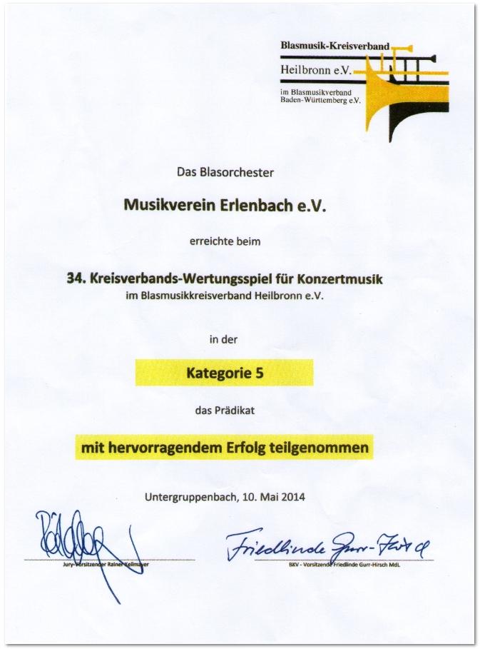 Kreisverbands-Wertungsspiel 2014