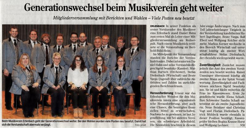 64. Mitgliederversammlung MV Erlenbach