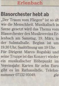 Heilbronner Stimme vom 17.03.2016