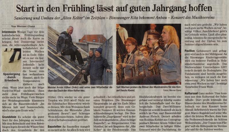 Heilbronner Stimme vom 19.03.2016
