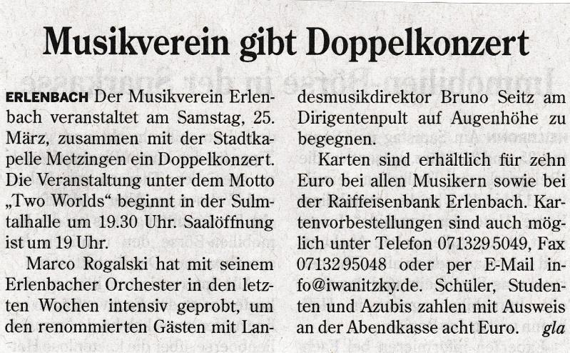 Heilbronner Stimme vom 21.03.2017