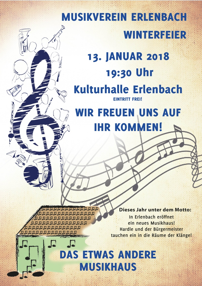Plakat Winterfeier 2018